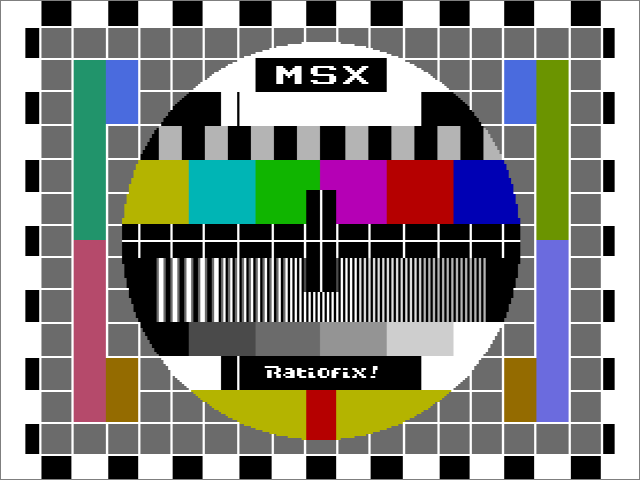 Ratiofix! A nice monoscope for MSX2 or higher